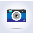 Photo camera icon blue color vector image vector image