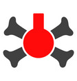 poison flask icon vector image