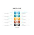 problem infographic 10 option concept solution vector image