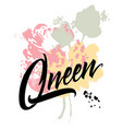 queen abstract vector image