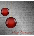 Red and gray Christmas background vector image vector image