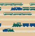 seamless colorful pattern with train vector image vector image