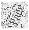 SEO for Adsense Word Cloud Concept vector image vector image