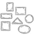 set hand drawn sketchy post stamp symbols vector image vector image