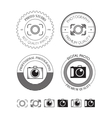 Set of photo logos labels vector image