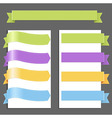 Set Pastel Ribbons vector image vector image