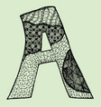 sketchy letter a on light-green background free vector image vector image