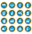 smart home icons set simple style vector image vector image
