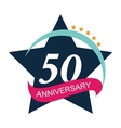 Template Logo 50 Anniversary vector image vector image