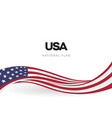 the usa waving flag banner the united states of vector image