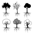 Tree set vector image vector image