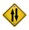 two way street traffic sign icon vector image vector image