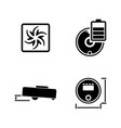 vacuum robot cleaner simple related icons vector image
