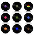 Vinyl record-LP set vector image vector image