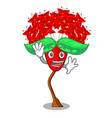waving ixora flowers in shape of mascot vector image vector image