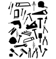 Work tools isolated icons set vector image vector image