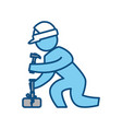 worker construction silhouette vector image