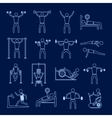 Workout training icons set outline vector image vector image