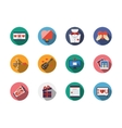 Round colorful romance icons vector image