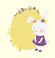 spring easter cute bunny vector image