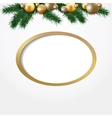 Christmas greeting card garland of fir twigs vector image