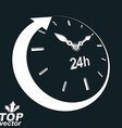 3d 24 hours clock black and white Day-and-n