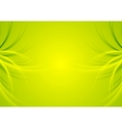 Abstract green shiny waves background vector image vector image
