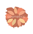 abstract logo of the petals in a circle vector image vector image