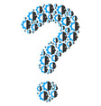 answer composition of cyborg head icons vector image