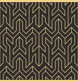art deco abstract seamless pattern vector image vector image