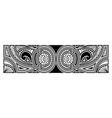 art tattoo sleeve in polynesian border vector image vector image
