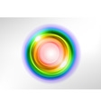 background rainbow light center vector image vector image