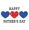 bandana hearts fathers day vector image vector image