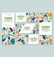 banner vegetables fresh vegetable menu organic vector image