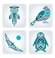 Birds mosaic icons vector image