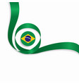 brazilian wavy flag background vector image