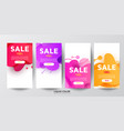 bright gradient liquid gradient waves sale banner vector image