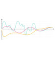 Business data market elements diagrams vector image vector image
