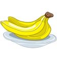 cartoon food fruit banana vector image vector image