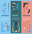 cartoon orthopedic banner vecrtical set vector image vector image