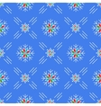 christmas seamless pattern snowflakes blue vector image vector image