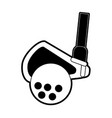 club hitting ball golf related icon image vector image vector image