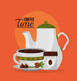 coffee and tea time vector image vector image