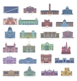 Collection of landmarks for traveling and tourism vector image vector image