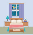 color background of bedroom with window in the vector image vector image