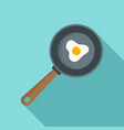 cooked egg icon flat style vector image
