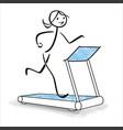 Cute sports girl running on treadmill
