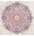 Decorative mandala in ethnic retro style vector image