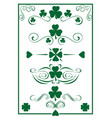 design vintage green elements for st patricks day vector image