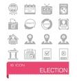 Election icon set vector image vector image